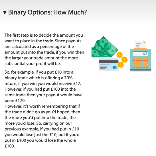 How much can you make trading binary options